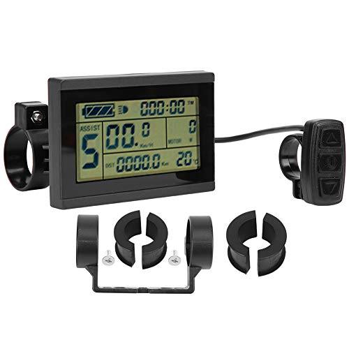 24-V-36-V-48-V-LCD-Display E-Bike Digital Meterm, Fahrradumbau KT-LCD3U Horizontaler Schwarzweiß-LCD-Bildschirm Wasserdichter Anschluss