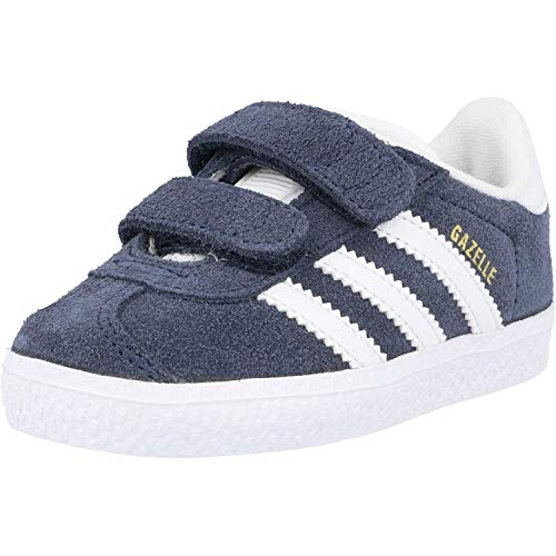 Adidas Gazelle CF I, Zapatillas Unisex niños, Azul (Collegiate Navy/Footwear White/Footwear White 0), 22 EU