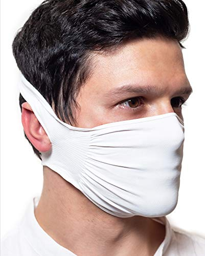 5 X Fascia Protettiva, Idrorepellente, Batteriostatica in poliammide lavabile e riutilizzabile, confezione da 5 mascherine