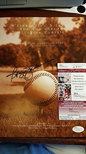%59 OFF! Reggie Jackson Autographed Signed Autograph From Bob Gibson Classic Golf Benefit JSA COA