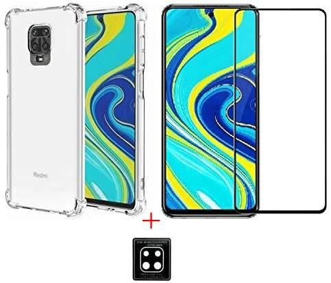 Kit Capa + Película Vidro 3D 5D 9D 11D + Película Câmera Gel para Xiaomi Redmi Note 9S / NOTE 9 PRO/NOTE 9 PRO MAX (NÃO SERVE NO REDMI NOTE 9 NORMAL)