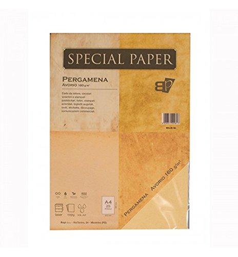 Carta Bapi Pergamena Avorio A4 160 gr. 25 ff