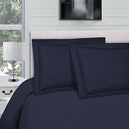 Superior infinity ricamato di lusso, raffreddamento 100% Set copripiumino con cuscino, panno in microfibra spazzolata, leggero e resistente–Twin/Twin XL copripiumino, bordeaux