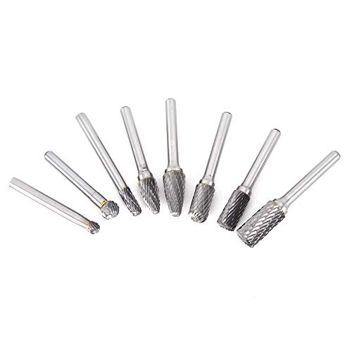 Weikeya Tungsteno Acero Molienda Cabezas, Tungsteno Acero Tungsteno Acero 6 X 45 X 6mm Eléctrico Taladro Tungsteno