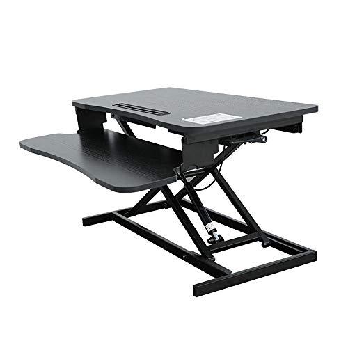 FEI - Bureau debout Support de table ajustable en hauteur pour poste de travail pour ordinateur de bureau debout - moniteur et élévateur de clavier - compatible avec le bras du moniteur pour tous les