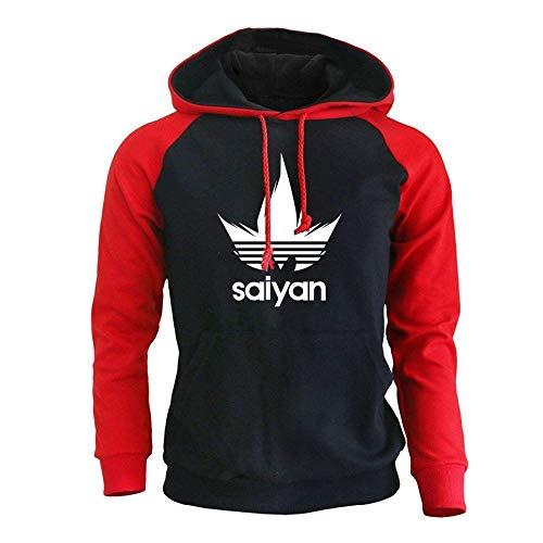 HNOSD Männer Hoodies Anime Dragon Ball Z Super Saiyajin Sweatshirt 2018 Neue Heiße Raglan Hoody Herbst Winter Männer Sportswear Hoodie