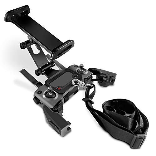 Tineer Remote Control Extended Front Holder Bracket for DJI Mavic Mini/Mavic 2 Pro Zoom/Mavic Air/Spark Drone, Support 4.6-11Inches Front Holder for Phone Tablet Mount Clip