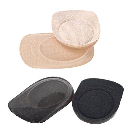 ROSENICE 2 Paare Silikon Gel Fersenkissen Fersenpolster Hilfe bei Fersensporn - Größe L