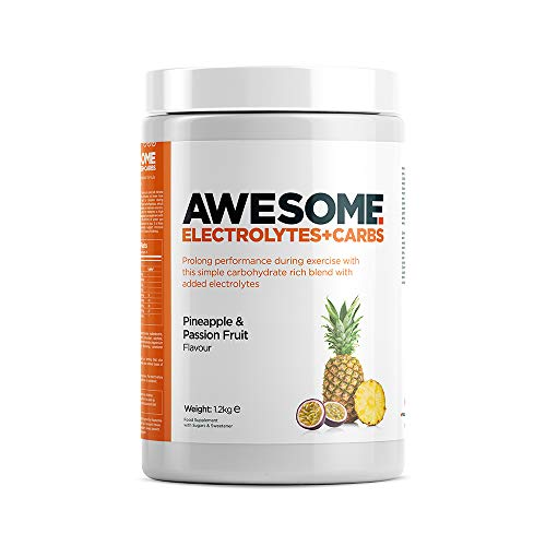 Awesome Supplements by Ben Coomber, Electrolyte + Carbs Powder, Vegan, Dairy, Gluten & Caffeine Free