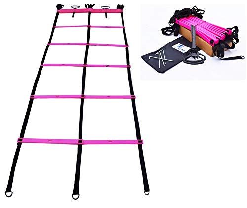 Cintz Green Dual Speed Agility Ladder Soccer Training Flexibility Workout Heavy Duty
