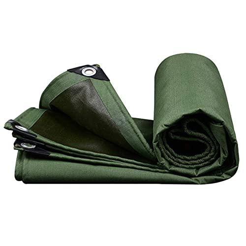 SJQ Lona Resistente, Cubierta de Lona Impermeable, Revestimiento de Fibra de Vidrio ignífugo de una Cara, para acampadas, techos y remolques (0.86 mm / 550gsm) (Color: Verde, Tamaño: 2X4M)