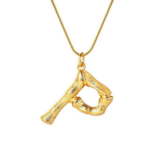 NSXLSCL Vrouwen Hanger Ketting, Grote Letters P Goud Hanger Kettingen Voor Vrouwen Met Snake Chain Engels Letter Sieraden Beste