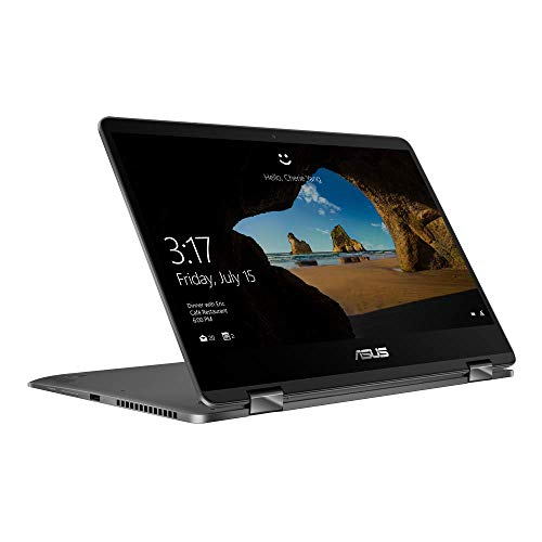 ASUS ZenBook Flip 14 UX461FA (90NB0K11-M01020) 35,5 cm (14 Zoll, FHD, WV, Touch) Convertible Notebook (Intel Core i7-8565U, 16GB RAM, 512GB SSD, Intel UHD-Grafik 620, Windows 10) Grey