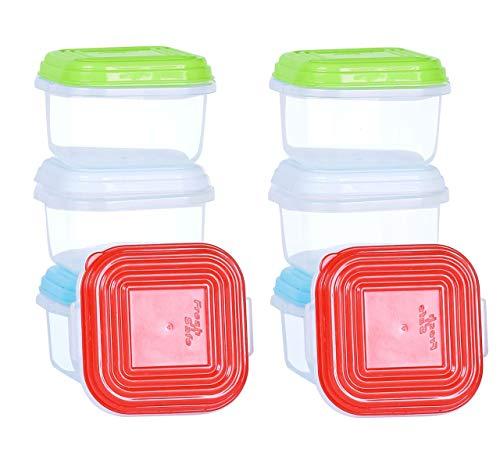 NEEZContenitori per alimenti, Conservazione cibi per tramezzini la pasta di cereali, Set di contenitori per alimenti, Senza BPA, Adatto per lavastoviglie, Congelatore, Microonde (Pack of 8x120ml)