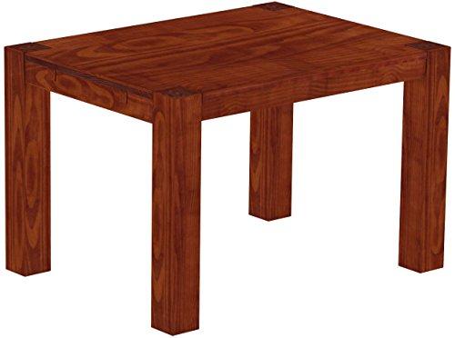 Brasilmöbel Esstisch Rio Kanto 120x90 cm Mahagoni Pinie Massivholz Größe und Farbe wählbar Esszimmertisch Küchentisch Holztisch Echtholz vorgerichtet für Ansteckplatten Tisch ausziehbar