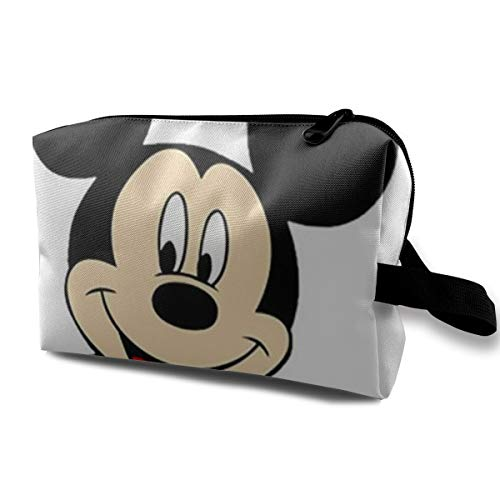 Neceser de Viaje de Mickey Mouse, Bolsa de Maquillaje, Bolsa de Aseo portátil para Mujer, Organizador de Almacenamiento Diario