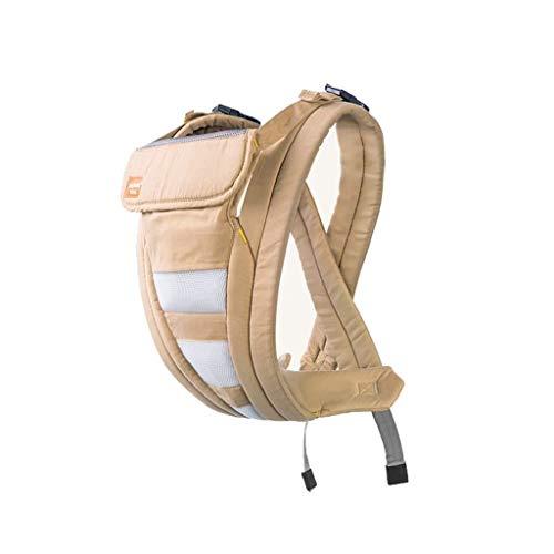 LYXPUZI - Transportín de bebé con accesorios para bebé, portabebés, posición ergonómica, portabebés, mochila portabebés frontal, mochila portabebés, portabebés delantero ajustable caqui
