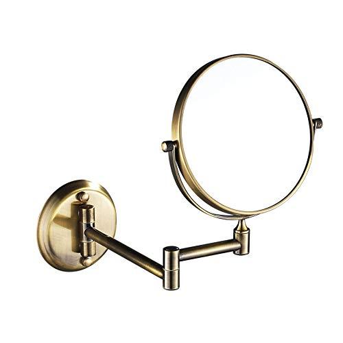 SSYS Espejo de Maquillaje, Espejos de vanidad, Espejo de baño de Oro de 8 Pulgadas x5 / 7/10 de magnificación Montaje Montaje Montaje DE Belleza Ajustable DE MAQUILLO TELESCÓPICO Espejo,B,X5