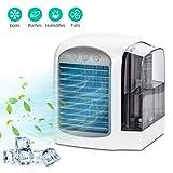 Aidodo Minienfriador de aire, purificador de aire, humidificador 3 en 1, aire acondicionado portátil, 3 niveles de velocidad, para el hogar, oficina, hotel
