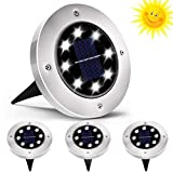 QSSTech Luci Solari Giardino 8 LED,Luci led Solari da Esterno,LED Luce Sepolta Solare IP65...