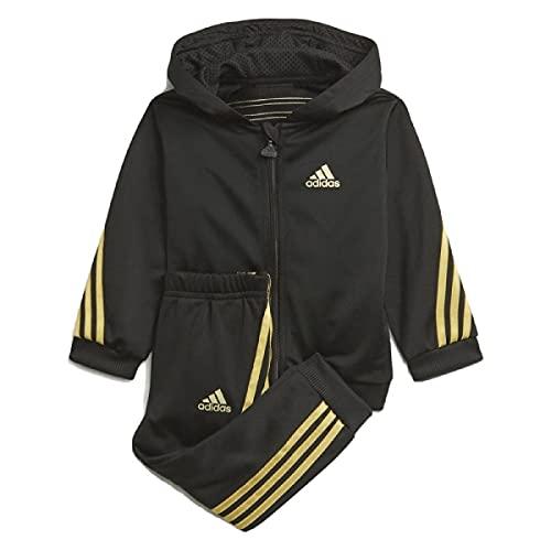 adidas I FI Shiny AOPJ Set, Top:Black Bottom:Black/Gold Met, 1218 Unisex-Baby