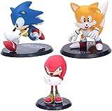 Figura de Anime Ratón Rsonic Sonic Sonic The Hedgehog Supersonic Boy PVC Figurine 3 Unids/Set Modelo de Anime Escultura colección Regalo