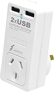 PAD102USB SANSAI Surge Protector with 2 X USB Sansai Recharge and Power Your USB Powered Devices Without The Need for a Co...