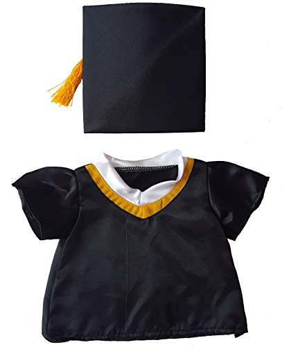 """Graduation Cap & Gown Outfit Teddy Bear Clothes Fits Most 14"""" - 18"""" Build-a-bear and Make Your Own Stuffed Animals"""