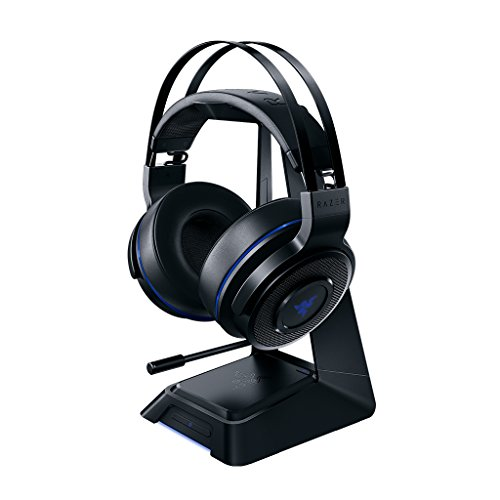 Razer Thresher Ultimate for PS4: Dolby 7.1 Surround Sound Lag-Free Wireless Connection Retractable Digital Microphone Gaming Headset Works with PC/PS4