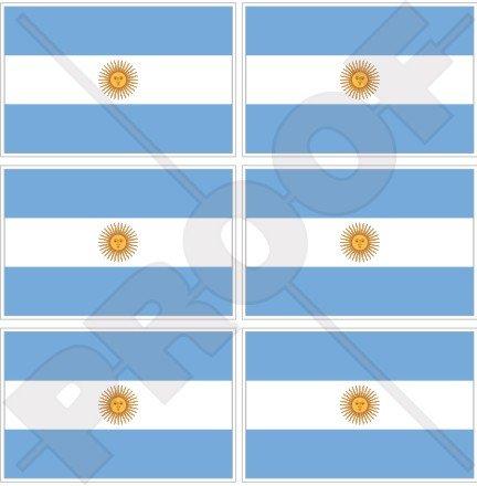 argentine argentin Drapeau national 40 mm (40,6 cm) Téléphone Mobile Mini en vinyle autocollants, Stickers x6
