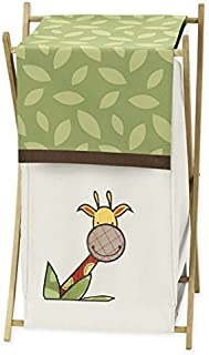 Jungle Time Baby/Kids Clothes Laundry Hamper for Sweet Jojo Designs for Jungle Time Bedding