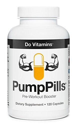 PumpPills Nitric Oxide Supplements for Men & Women - L Citrulline L Arginine Supplement - Stimulant Free Pre Workout Pills - Nitric Oxide Booster - Vegan, Paleo, Keto (120 Capsules)