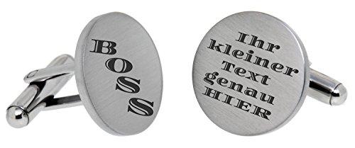 Boutons de manchette en acier inoxydable avec votre texte au choix personnel pour bouton de manchette mariage Cuff Link Bouton