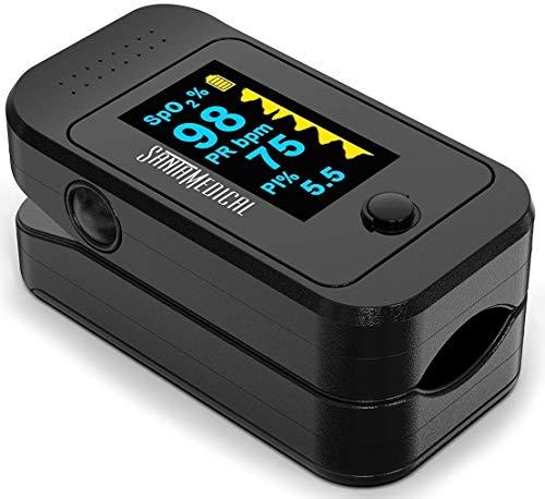Santamedical Dual Color OLED Pulse Oximeter Fingertip, Blood...