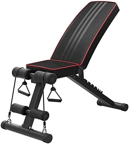 Banco de pesas ajustable plegable inclinado para ejercicios de 200 kg de capacidad de peso, multifunción, gimnasio, entrenamiento de fuerza, estación de entrenamiento de fitness