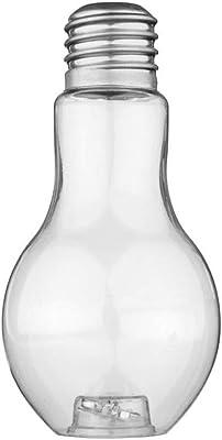 transparent vaso trasparente in vetro a forma di lampadina per fiori Size two Vetro Jungen
