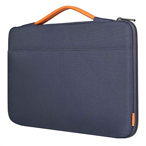 Inateck 14 Inch Laptop Case Sleeve Briefcase, Shock Resistant Bag Compatible with Notebook/Chromebook/ThinkPad/Ultrabook, MacBook Pro 15 Inch 2016-2019, Surface Laptop 3 - Blue
