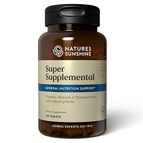Nature's Sunshine Super Supplemental, 120 Tablets   Multivitamin for Men and Women Provides Vitamins, Minerals, Amino Acids, Herbs, Fruit Powders, Veggie Powders, and Carotenoids (Pack of 1)