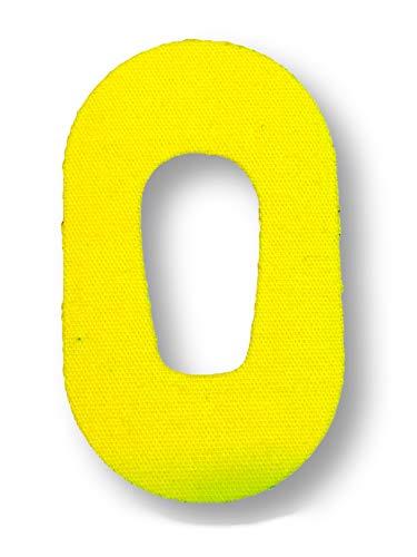 FixTape atmungsaktives Sensor-Tape für Dexcom G6 I selbstklebendes Patch mit Loch für Glukose-Sensor I hoher Trage-Komfort I hautfreundlich und wasserfest in modernen Designs I 7 Stück (Gelb)
