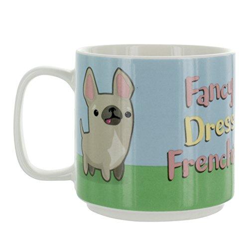 My Kawaii Fancy Dress Frenchie Mug en céramique, Multicolore, 8 x 12 x 10 cm
