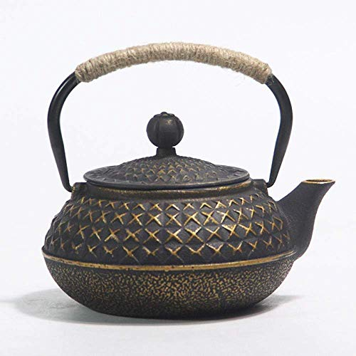 DZNOY Ollas de té Potes de té Esmalte Hervidor de Hierro Fundido Hervir Agua Tetera Tetera