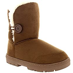 Single button soft textile boots Fully Textile lined interior Thick durable soles with deep tread Available in a palette of fashionable shades