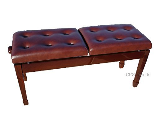 Why Should You Buy Adjustable Deluxe Duet Two Seated Double Artist Piano Bench Stool in Walnut