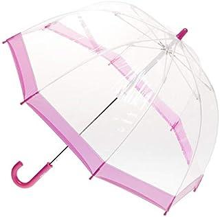 CLIFTON UMBRELLAS Pink Trim Kid Friendly PVC Birdcage Umbrella, Pink, One Size