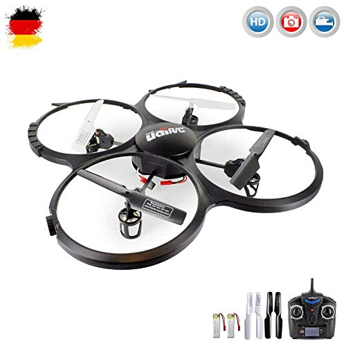 UDI U818A HD UPGRADE- RC UFO met accu en camera - 3D Quadrocopter - drone 2,4 GHz - met 4 GB microSD-kaart (zwart met 2 batterijen)