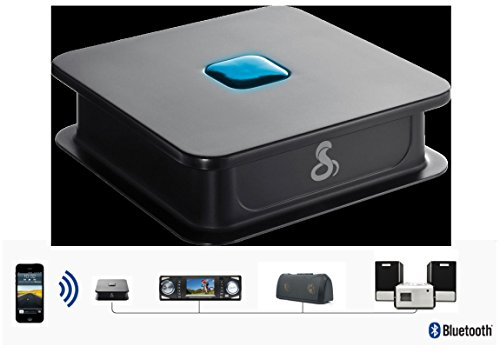 Cobra AirWave Bluetooth WiFi Receiver Adds Wireless Bluetooth Capability to HiFi , Docking Stations, Portable Speakers, In Car Audio Systems - Wirelessly Stream Your Music - Black - CWA BT160