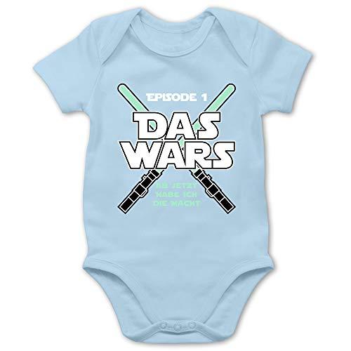 Shirtracer Zur Geburt - Das Wars Jetzt Habe ich die Macht Junge - 1/3 Monate - Babyblau - Babykleidung Junge - BZ10 - Baby Body Kurzarm für Jungen und Mädchen