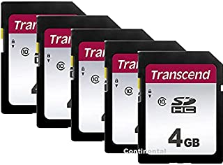 Lot of 5 Transcend Secure Digital 4GB SDHC Class 10 Memory Card