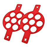 Gflyme 2er Pack Silikon-Eierringmacher, Pfannkuchenform-Hersteller...