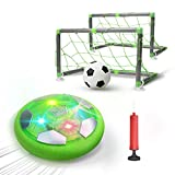 DEERC Kids Game Toys Hover Soccer Ball Set Rechargeable Air Soccer with 2 Goals, Ball Toy with LED Light for...